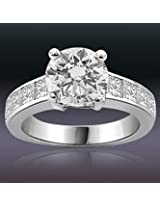 1.10TCW GIA Cert L/SI2 Cert Sol Diamond Engagement Ring