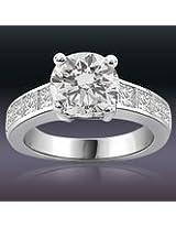 1.20TCW GIA Cert G/VS1 Cert Sol Diamond Engagement Ring