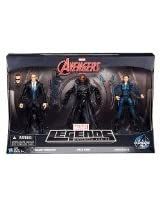 Marvel Legends Infinite Series, Marvel Avengers Action Figure Set, Agent Coulson, Nick Fury, and Maria Hill, 3-Pack, 6 Inches