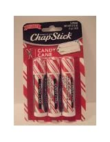 Chapstick Limited Edition Peppermint Candy Cane 1 Pkg of 3 Sticks