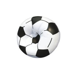 Unique Gadget Football Soccer Bean Less Bed Inflatable 30kg Sofa Cum Chai For Kids