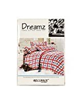 Beautiful Queen Size Bedsheets -Checks Design - Red Color