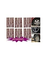 SET OF (30+30=60 PCS)CAR BIKE AUTO TUBELESS TYRE PUNCTURE STRIPS / PLUGS USE WITH KIT
