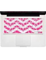 Kuzy - Chevron Zig-Zag Keyboard Cover for MacBook Pro 13 15 17 iMac and MacBook Air Silicone Skin - Pink