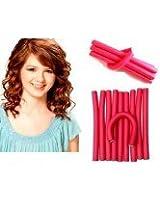 10 pieces Hair Curling Flexi rods Magic Air Hair Roller Curler Bendy Magic Styling Hair Sticks hair pin