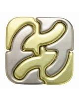 Hanayama Cast Metal Brainteaser Puzzles - Square Puzzle (Level 6)