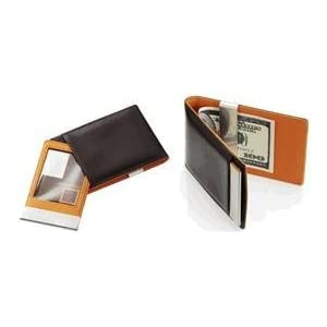 Visol VMC75 Cygnus Leather Wallet Money Clip with ID Holder
