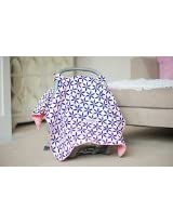 Carseat Canopy (Kendra) Baby Infant Car Seat Cover W/attachment Straps and Minky Fabric