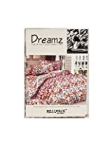 Beautiful Queen Size Bedsheets -Floral Design - Brown Color