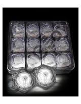 LED Light Up Ice Cubes - White