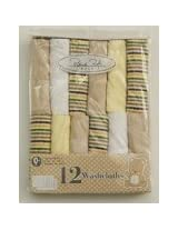 Bon Bebe 12 Washcloths Set (Tan)