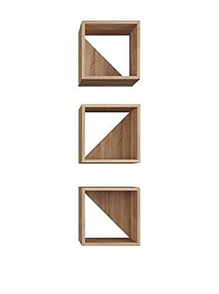 Mobito Design Wandregal 3er Set Trian