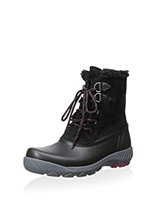 Cougar Women's Maple Sugar Lace-Up Insulated Snow Boot (Black/Black)