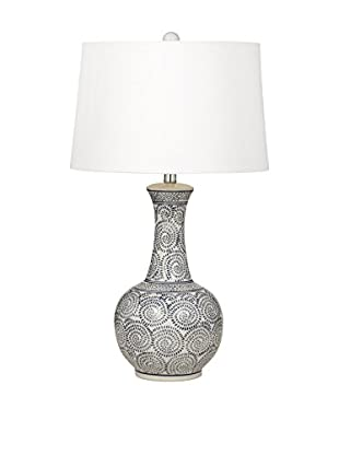 Bassett Mirror Company Trenton 1-Light Table Lamp, Royal/White
