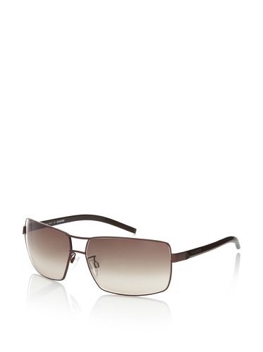 Jil Sander Women's JS100SM Blocked Aviator Sunglasses, Coffee