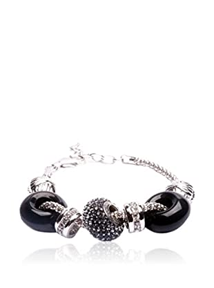 SWAROVSKI ELEMENTS Pulsera Beads Negro