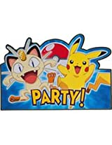 Pokemon Pikachu & Friends Postcard Invitations (8) Invites
