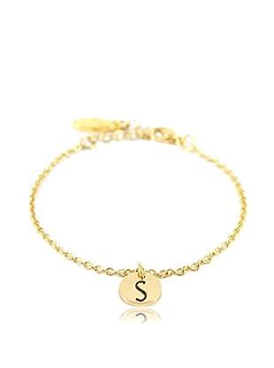 Ettika 18K Gold-Plated S Initial Chain Bracelet