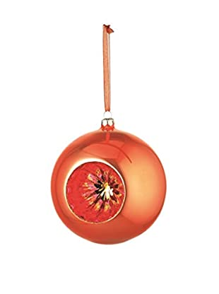 Napa Home & Garden Glass Reflector Ball Ornament, Orange