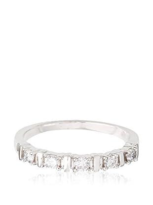 PARIS VENDÔME Ring Alliance Barette 5 Diam Diamant