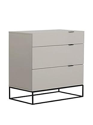 Casabianca Vizzione Tall Dresser/ Nightstand, High Gloss Grey Lacquer