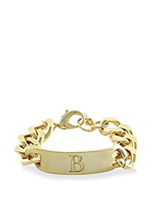 Ettika 18K Gold-Plated B Initial ID Bracelet