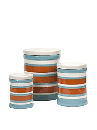 Set of 3 Miles Striped Canisters, Multi