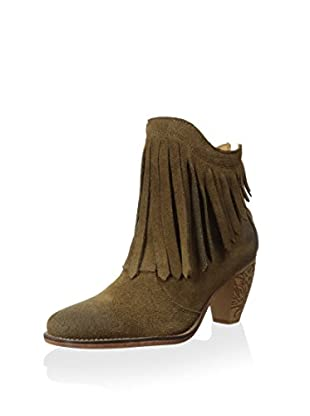 J Shoes Women's Sylvia Fringe Ankle Bootie (Light Brown)