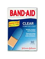Band-Aid Brand Clear Strips Adhesive Bandages - 30 CT