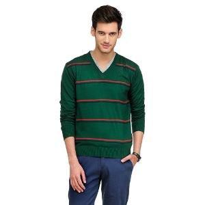 Yepme Green Sweater For Men