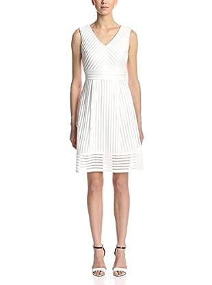 Sandra Darren Women's V-Neck Fit-and-Flare Dress