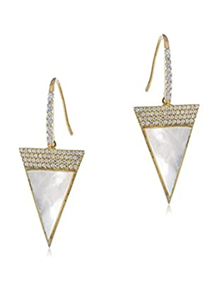 Jardin Pave Triangle Earrings