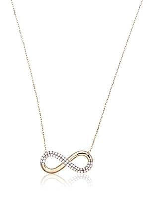 My Silver Collar Infinito Oro Diamantado Zirconium