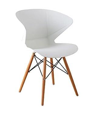 LO+DEMODA Stuhl 2er Set Wooden Prisma weiß