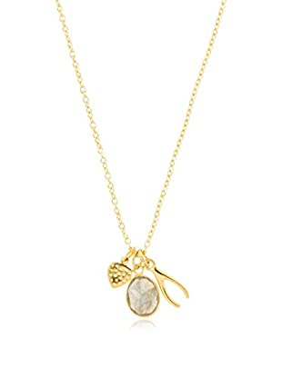 Argento Vivo Wishbone, Stone & Heart Charm Necklace