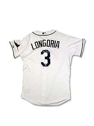 Steiner Sports Memorabilia Evan Longoria Rays Authentic White Cool Base Jersey, 11