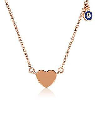 Divas Diamond Collar Good Luck Eye Heart Dorado