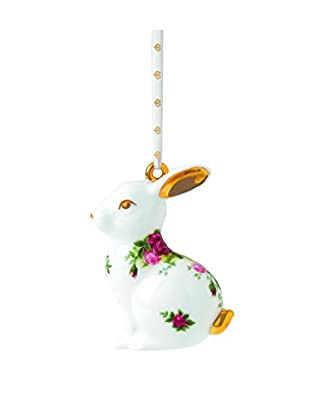Royal Albert Old Country Roses Rabbit Ornament, Multi