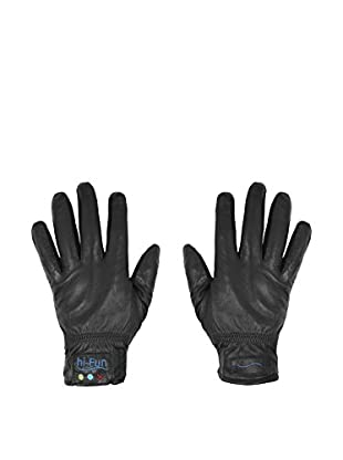 hi-Fun Guantes Para Tablet Y Smartphone Hi-Call Leather Medium Negro