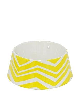 Three Hands Chevron Ceramic Pet Bowl