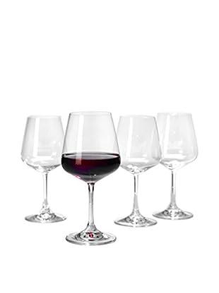 Villeroy & Boch Set of 4 Ovid 19.9-Oz. Red Wine Goblets, Clear