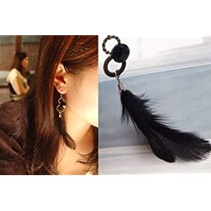 Big Feather Fall Earrings