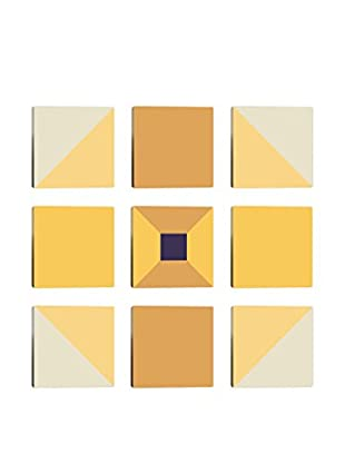 Shades of Yellow 9-Tile Giclée on Canvas