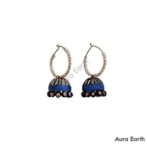 AUrA-EArTH Retro Hanging Jhumkas