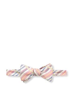 Bruno Piattelli Men's Plaid Bow Tie, Coral