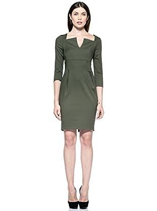 Annarita N Vestido Larga (Verde Oliva)