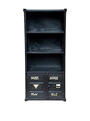 CDI Furniture Container Style Armoire Display Cabinet, Black