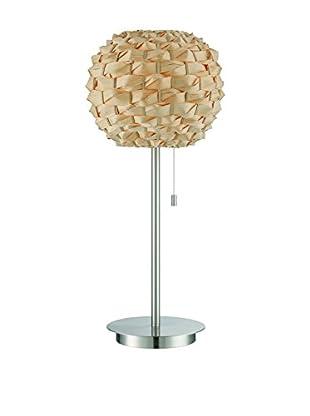 Lite Source Linterna Table Lamp, Polished Steel/Natural