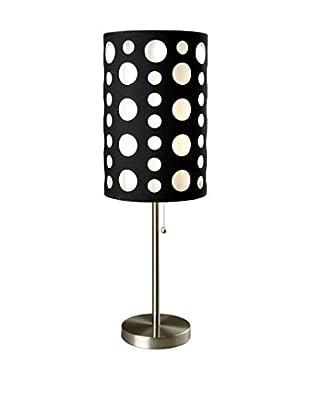 ORE International Modern Retro Table Lamp, Black/White
