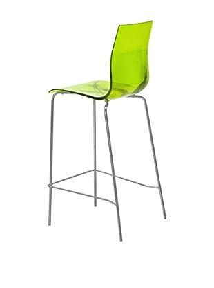 Domitalia Tall Gel Chair, Transparent Green